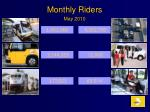 monthly riders