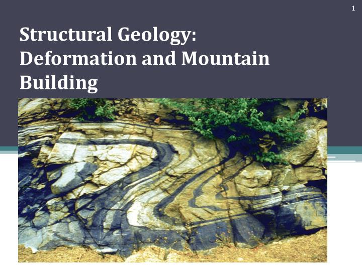 structural geology deformation and mountain building n.