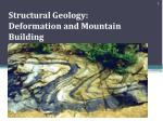 structural geology deformation and mountain building