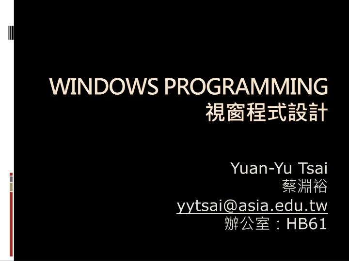 windows programming n.