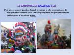 le carnaval de gallipoli le