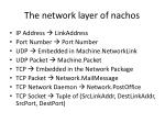 the network layer of nachos