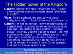 the hidden power of the kingdom