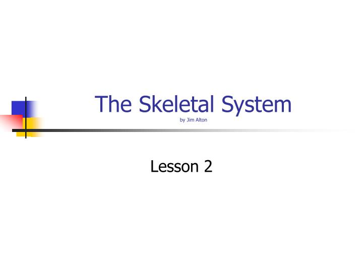 the skeletal system by jim alton n.