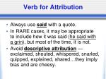 verb for attribution