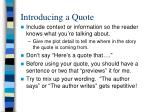 introducing a quote