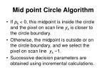 mid point circle algorithm5