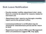 sick leave notification