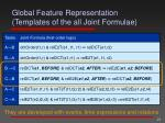 global feature representation templates of the all joint formulae1