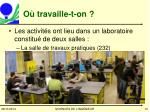 o travaille t on