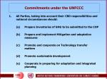 commitments under the unfccc