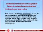 g uidelines for inclusion of adaptation issues in national communications