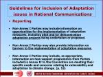 guidelines for inclusion of adaptation issues in n ational communications1