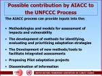 possible contribution by aiacc to the unfccc process