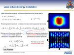 laser induced energy modulation