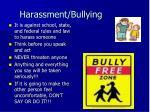 harassment bullying