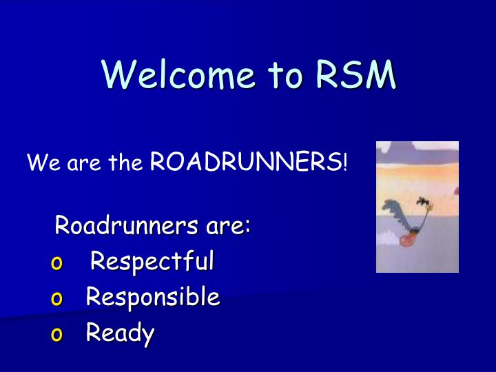 welcome to rsm n.