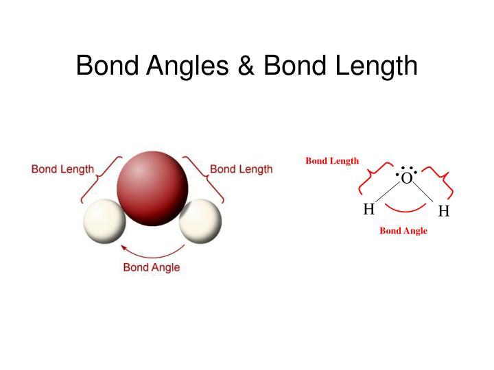 Bond Angles& Bond Length