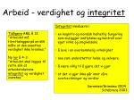 arbeid verdighet og integritet
