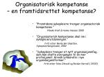 organisatorisk kompetanse en framtidsrettet kompetanse