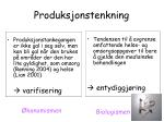 produksjonstenkning