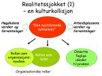 realitetssjokket 1 en kulturkollisjon