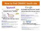 how to find cnmhc south site