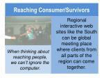 reaching consumer survivors