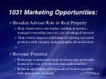 1031 marketing opportunities