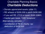 charitable planning basics charitable deductions1