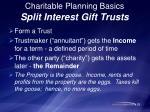 charitable planning basics split interest gift trusts