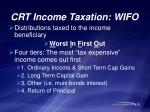crt income taxation wifo