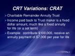 crt variations crat