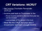 crt variations nicrut