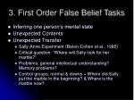 3 first order false belief tasks
