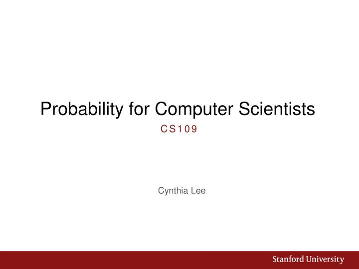 probability for computer scientists n.
