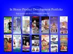 in house product development portfolio