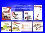 licensed product portfolio