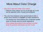 more about color charge
