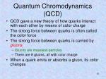 quantum chromodynamics qcd