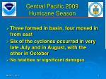 central pacific 2009 hurricane season1