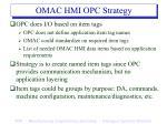 omac hmi opc strategy