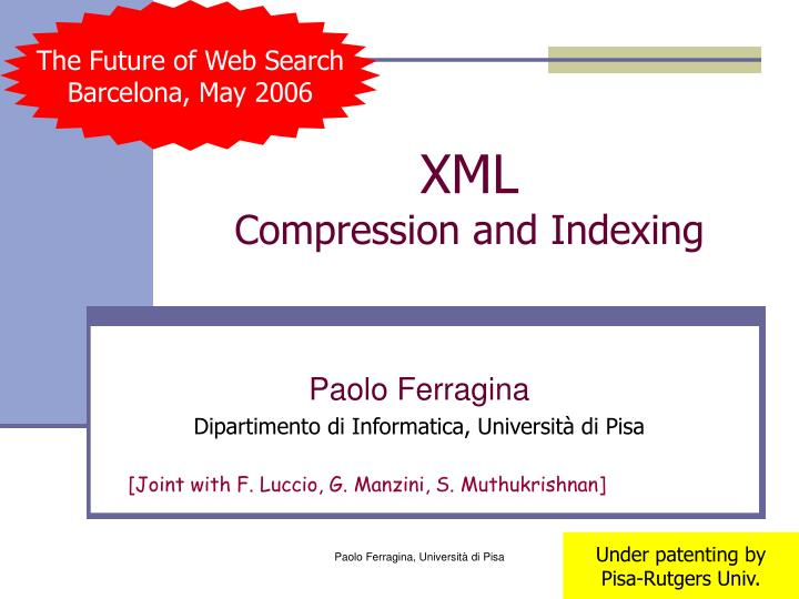 xml compression and indexing n.