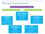 research team structure
