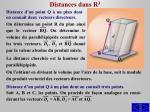 distances dans r 3
