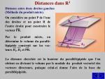 distances dans r 32