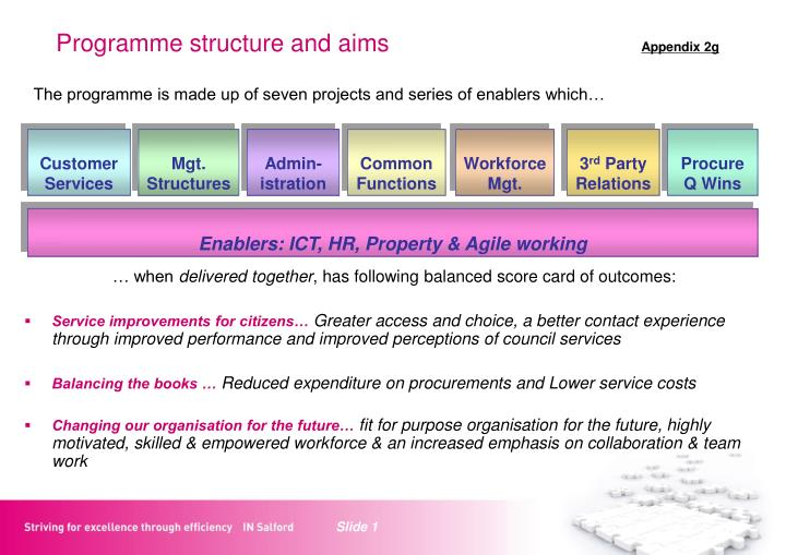 programme structure and aims appendix 2g n.