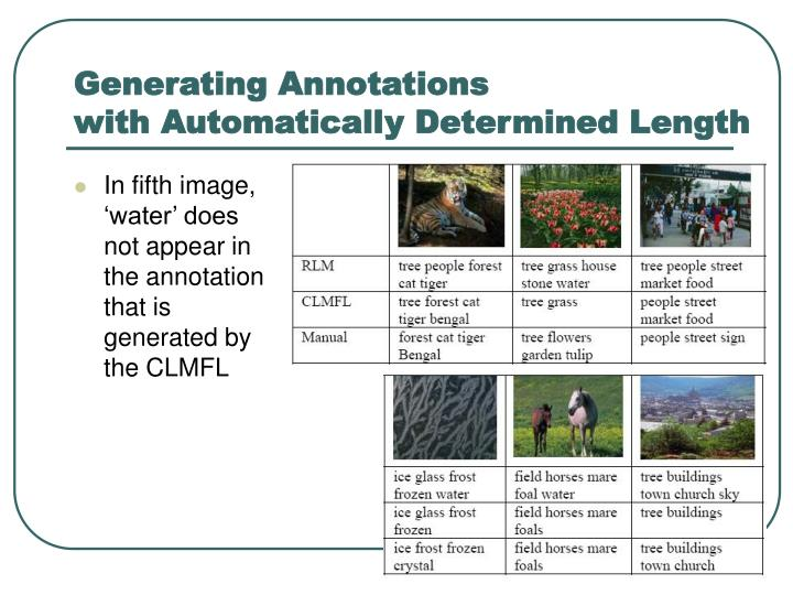 Generating Annotations