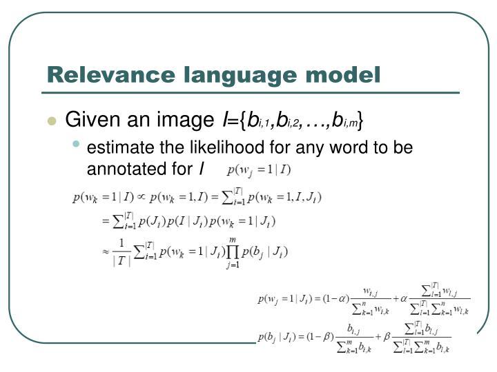 Relevance language model