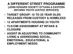 a different street programme john howard society ottawa eastern ontario youth justice services